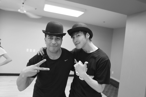Yunho Rehearsing in Toronto with Napolean D'umo